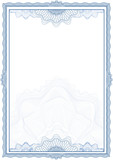 Classic guilloche border for diploma or certificate / vector - 15963735