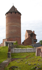 Bergfried tower and ruins of Turaida medieval Castle, Latvia