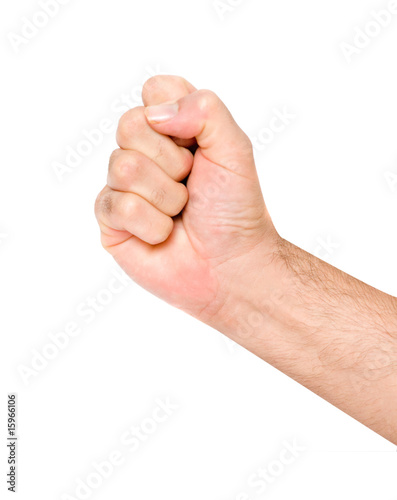 Fist isolated on white background