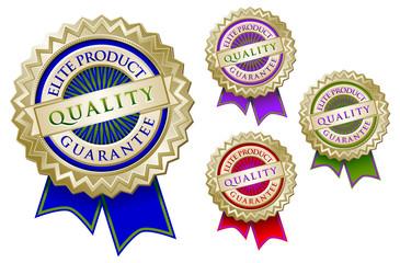 Set of Four Quality Elite Product Quality Guarantee Emblem Seals