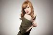 Pretty redhead woman posing