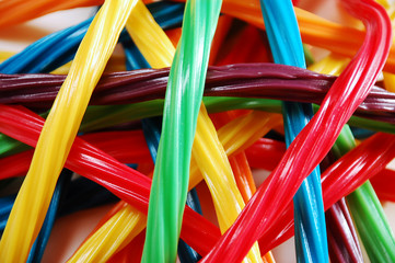Colorful assortment of licorice candy