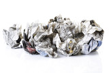Crumpled newspaper, close-up