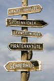 Germany, Amrum, Sign posts
