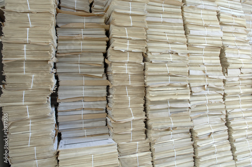 Stacks of paper, close up
