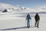 Norway, Rondane National Park, Persons cross-country skiing