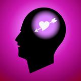 Heart-Arrow in Human Head poster
