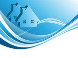 vector header for real estate or construction company poster
