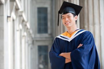 Graduate In Hallway