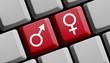 Männer und Frauen online