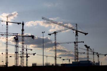 Baustelle, Kraene, Baubranche, Wirtschaft