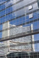 mirror from galss facade in vienna - congress-center