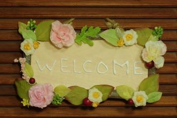 welcome board(^_-)