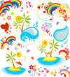Set of summer holiday icon