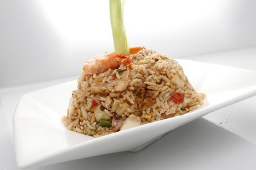 Chaufa rice from Peru, a chinese inspired recipe