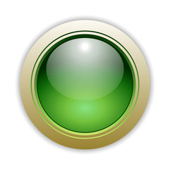 Green Glossy Vector Button Illustration
