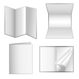 White Isolated Paper Stationery Set poster