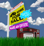 Home for Sale Sign - Desperate to Sell House poster