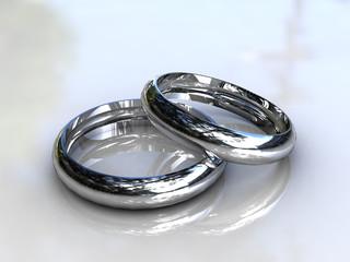 Classic Platinum Wedding Rings