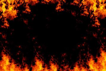 Flames frame background, XXL sized