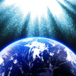 地球に降り注ぐ光