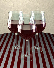 Drei Weingläser