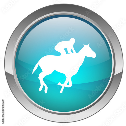 "Bouton ""Courses hippiques"" - ""Horse Racing"" button"
