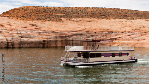 Housboat and Rocks at Lake Powell