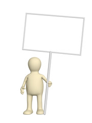 Puppet with message boards