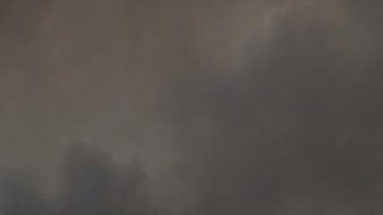 Smoke filled sky