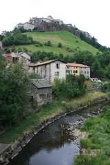 Saint-Flour - ville basse et ville haute (Auvergne, Cantal)