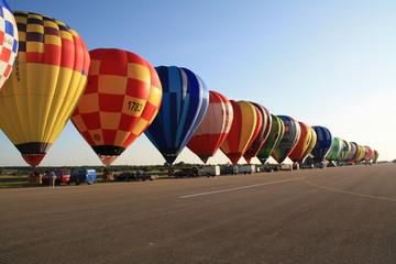 Ballons vor dem Start