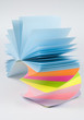 Colorful postit sticky notes