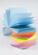 Colorful postit sticky notes