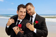 Two gay men in wedding