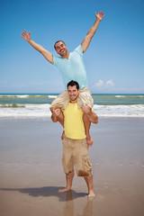 Happy gay men