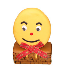 A Cake Decorated as the Character Humpty Dumpty.