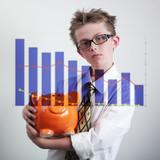 affaires garçon tirelire statistique poster