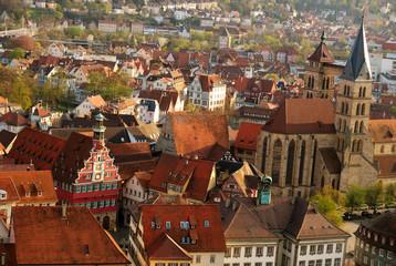 Stuttgart-Esslingen old town centre