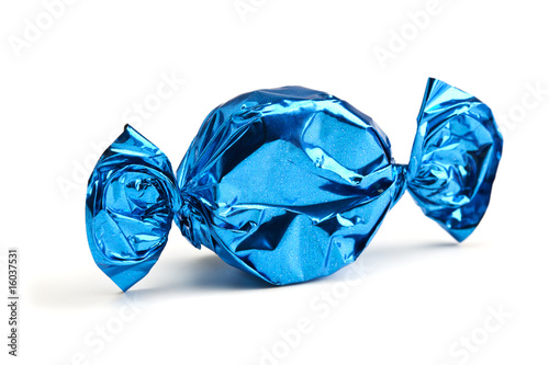 Aluminium Snoepjes candy wrapped in blue foil