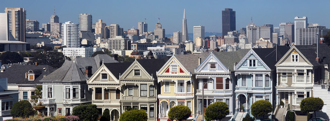 Painted Ladies Victorian houses, Alamo Square, San Francisco