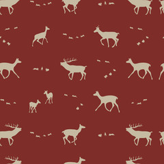 seasonal repeating  pattern, vector illustration