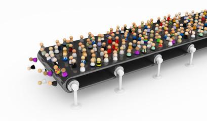 Cartoon Crowd, Conveyor