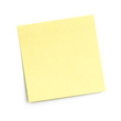 blank sticky note on white - 16043902