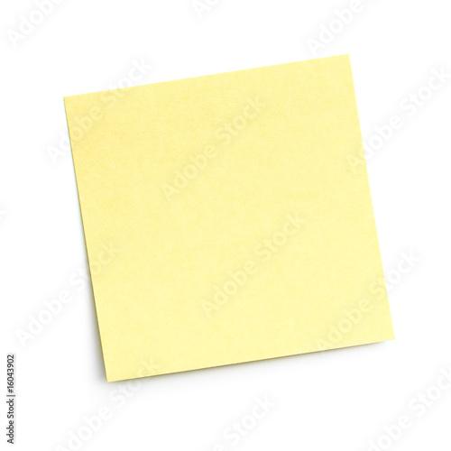 Leinwandbild Motiv blank sticky note on white