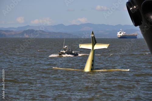 Airplane Landing on Water Airplane Water Landing Stock