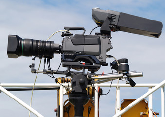 Video camera as used on crowd control by the Police