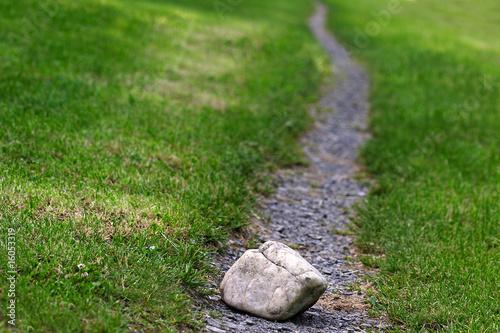 Leinwanddruck Bild Steine im Weg
