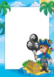 Frame with pirate boy-