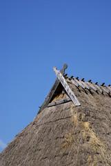 Dach eines keltischen Hauses